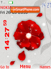 Animated redflower theme screenshot