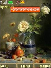Roses and fruit es el tema de pantalla