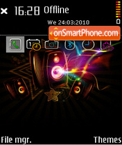 Energy of music theme screenshot