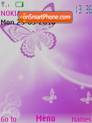 Luz de mariposa theme screenshot