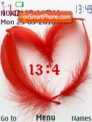 Animated love swf clock theme screenshot