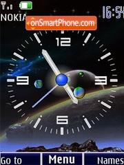 Analog clock 24wallp2 animated theme screenshot