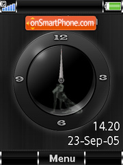 SWF Analogue Clock+Mmedia theme screenshot