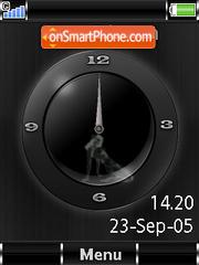 SWF Analogue Clock+Mmedia es el tema de pantalla