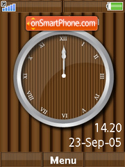 Wooden Clock theme screenshot