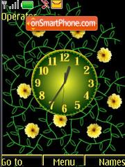 Analog clock for girls flash anim tema screenshot