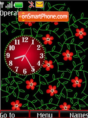 Analog clock flash anim for girls theme screenshot
