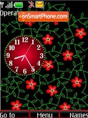 Analog clock flash anim for girls tema screenshot