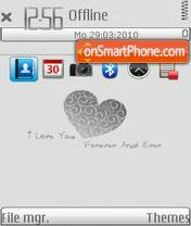 Скриншот темы Love Blue 02