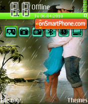 On the rain theme screenshot