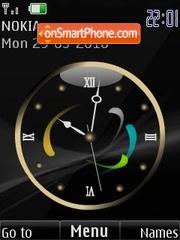 Analog black clock animated tema screenshot