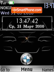 Bmw SWF Clock theme screenshot
