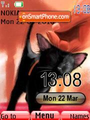 Cute Cat Clock theme screenshot