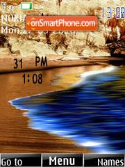 Beach Clock theme screenshot
