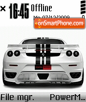 Ferrari F430 08 theme screenshot