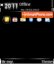 Just black v1 theme screenshot
