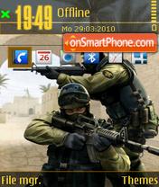 Counter strike 14 es el tema de pantalla