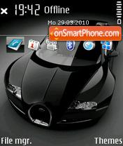 Скриншот темы Bugatti veyron 10