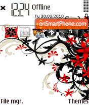 Floral Black and Red es el tema de pantalla