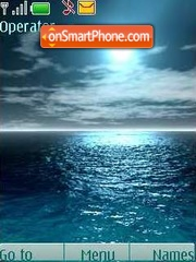 On the sea a calm theme screenshot