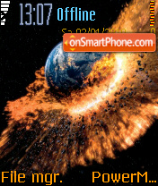 Earth Destruction tema screenshot