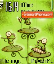 Frog Land 01 es el tema de pantalla