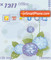 Hydrangea(Q) theme screenshot