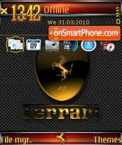 Ferrari QVGA 01 theme screenshot