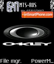 Oakley theme screenshot