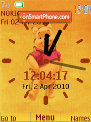 Pooh Nice Clock theme screenshot