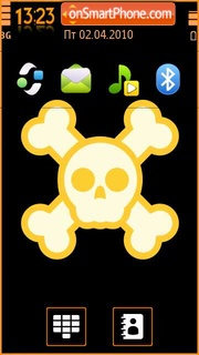 Old Skull theme screenshot