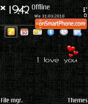 Скриншот темы Clean love Q