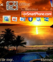 Sunset. theme screenshot