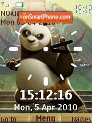 Kung Fu Panda Clock theme screenshot
