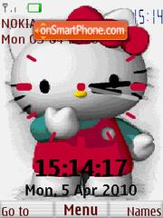 Скриншот темы Hello Kitty Clock
