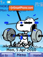 Capture d'écran Snoopy Sport Clock thème
