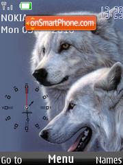 White Wolf Clock tema screenshot