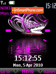 Purple Clock theme screenshot