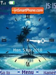 Island Clock theme screenshot