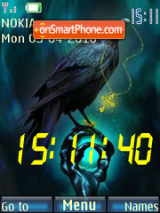 Black Raven SWF Clock theme screenshot