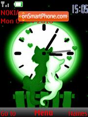 Скриншот темы Cat Love Clock