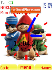 Alvin Clock theme screenshot