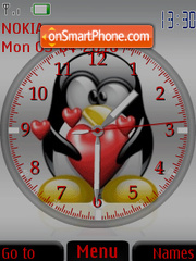 Скриншот темы Tux Clock