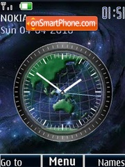 Earth clock animated theme screenshot