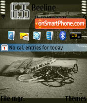 Gray Musik Photo theme screenshot