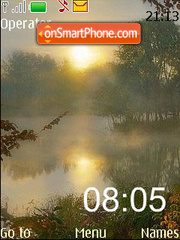 Morning 7 Days clock theme screenshot