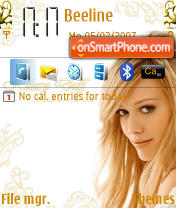 Скриншот темы Hilary Duff For Ever