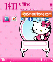 Pinky Kitty FP2 Theme-Screenshot