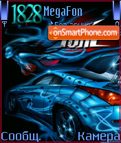 Animated BLUE car hyper tune theme screenshot
