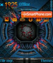 Скриншот темы Dark skull 01